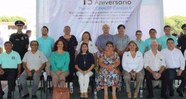 Festeja el plantel Conalep Cancún II su 15 Aniversario