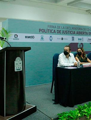 Poder Judicial de Quintana Roo hace patente su compromiso con la justicia abierta
