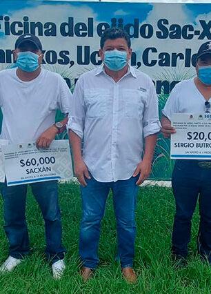 Apoyo a cañeros para avanzar en la reactivación económica del sur de Quintana Roo